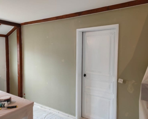 Rénovation murs plafonds Lemaire peinture rénovation Torcy peintre